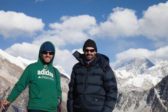 Sean und ich auf dem Gipfel