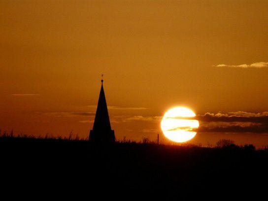 Sonnenuntergang im Erzgebirge