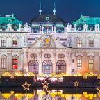 Schloss Belvedere zur Weihnachtszeit