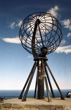 Norwegen Nordcap Weltkugel
