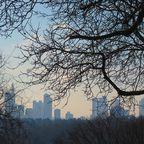 Skylineblick in der Januarsonne