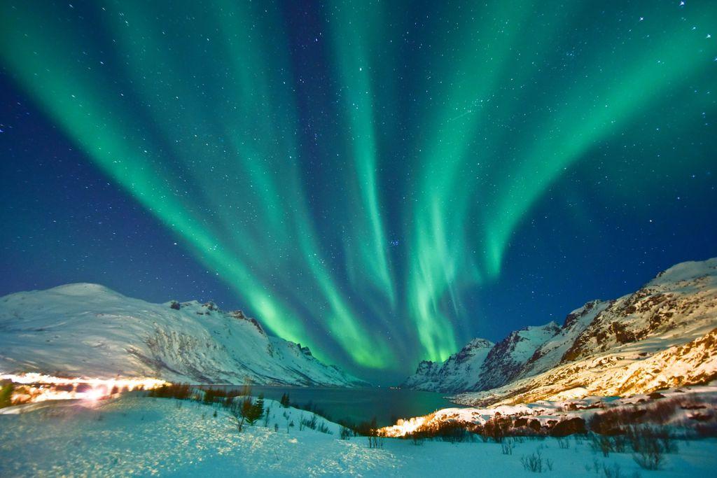 Die Nordlichter weisen den Weg zum Polarkreis