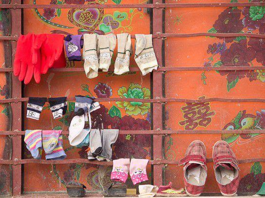 Waschtag in Xichou in der Provinz Yunnan