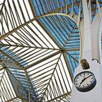 Die Decke des Bahnhof Oriente in Lissabon
