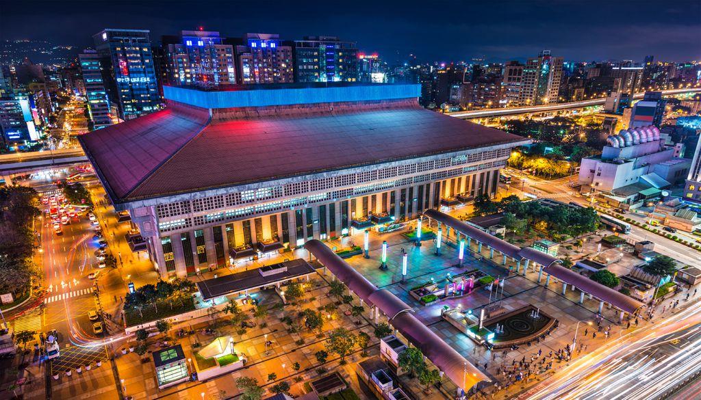 Der Taibei Che Zhan-Hauptbahnhof liegt im Herzen von Taiwan