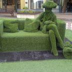 Gras-Sitzbank