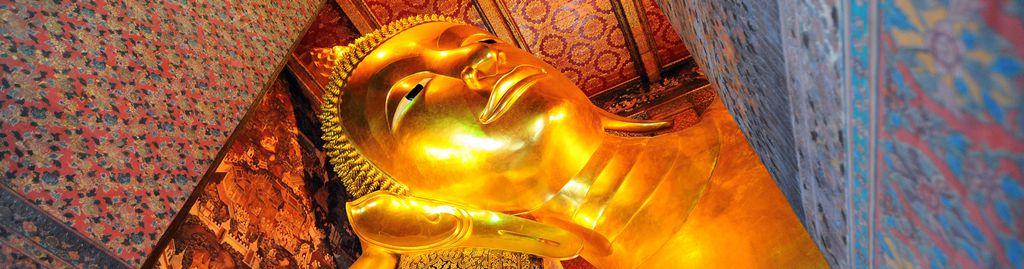 Heiligtum des Wat Pho: Der riesige, liegende Buddha