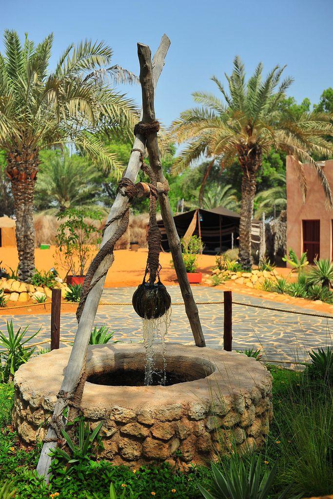 Brunnen im Heritage Village Abu Dhabi