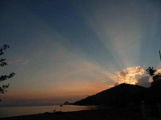 Sonnenuntergang über Coron Island, Philippinen