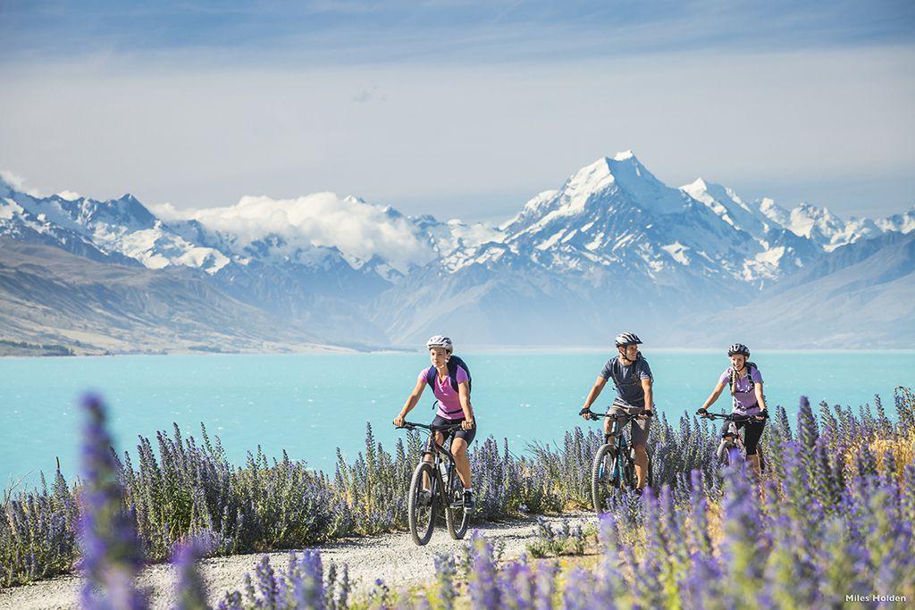 Rad fahren am Lake Pukaki