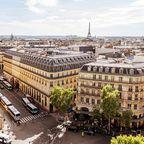 Paris von oben mit der Oéra Garnier und dem Eiffelturm