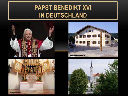 Papst Benedikt XVI in Deutschland
