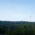 Blick auf den Fernsehturm am Morgen