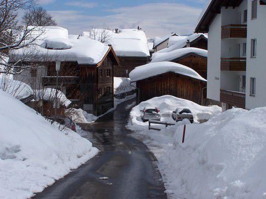 Dörfliche Schnee-Idylle
