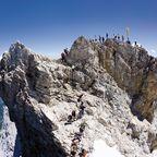 Wandern im Wettersteingebirge auf die Zugspitze