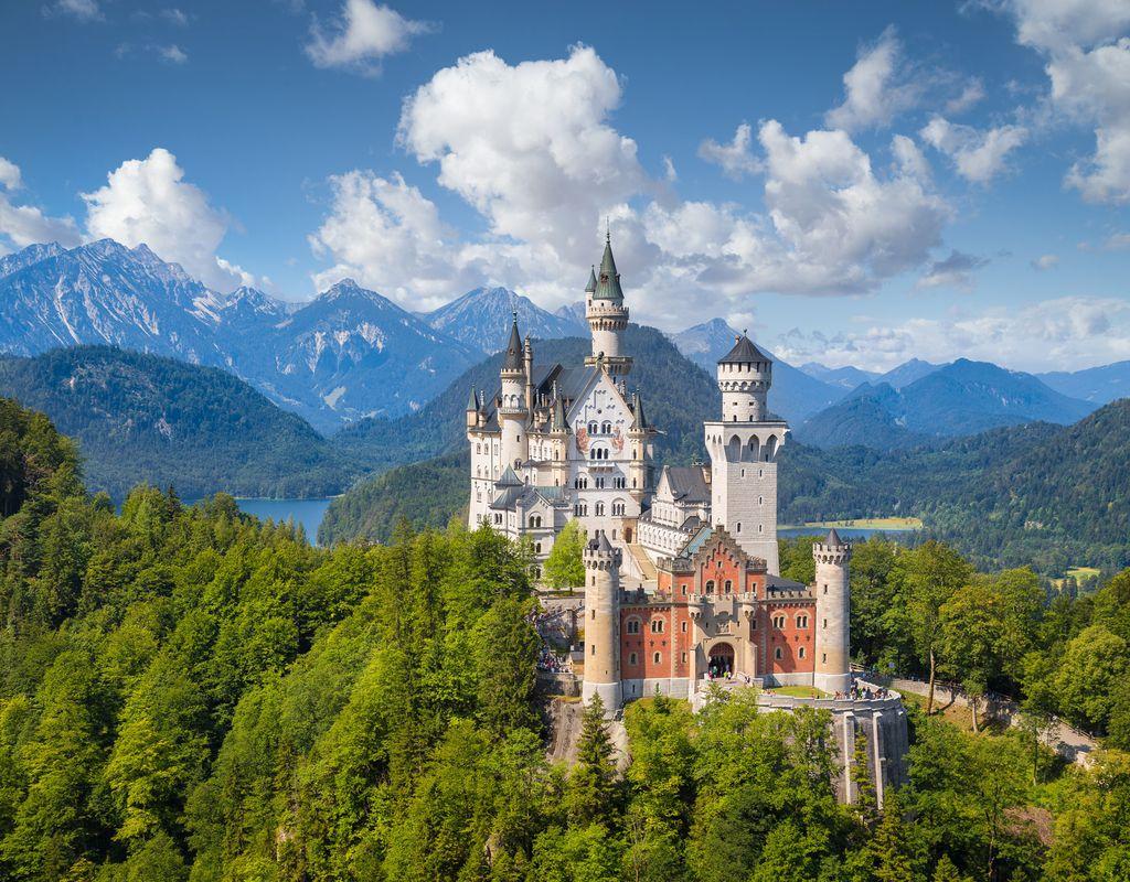 Das weltbekannte Schloss Neuschwanstein
