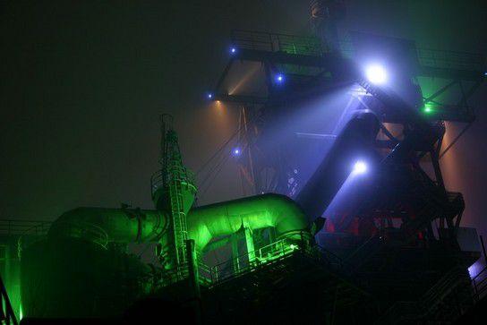 Nachts im Landschaftspark Duisburg-Nord