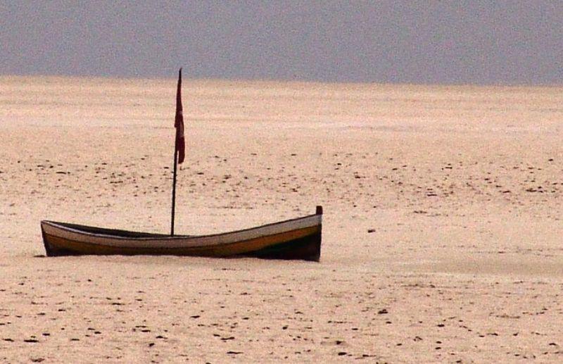 Boot auf dem Salzsee Chott el Djerid