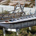 Alte Hundeschlitten vor dem Knud Rasmussen Museum Ilulissat