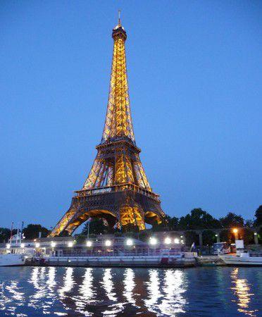 Paris Eifelturm by night