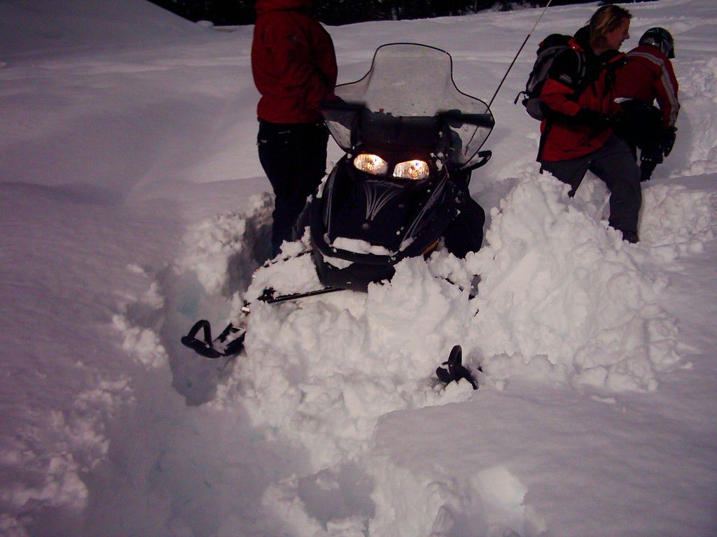 Snowmobiling in Whistler