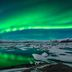 Polarlichter über Jokulsarlon