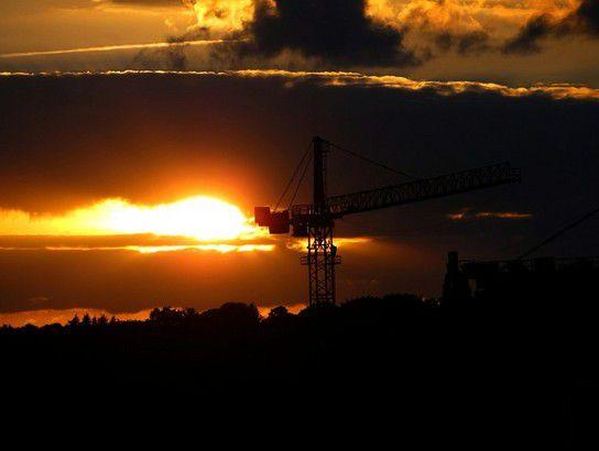 Himmel und Erde - Sonnenuntergang am 1. September 2012