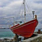 Schiff auf Mykonos