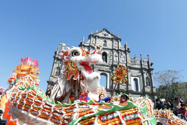 Drache in Macau