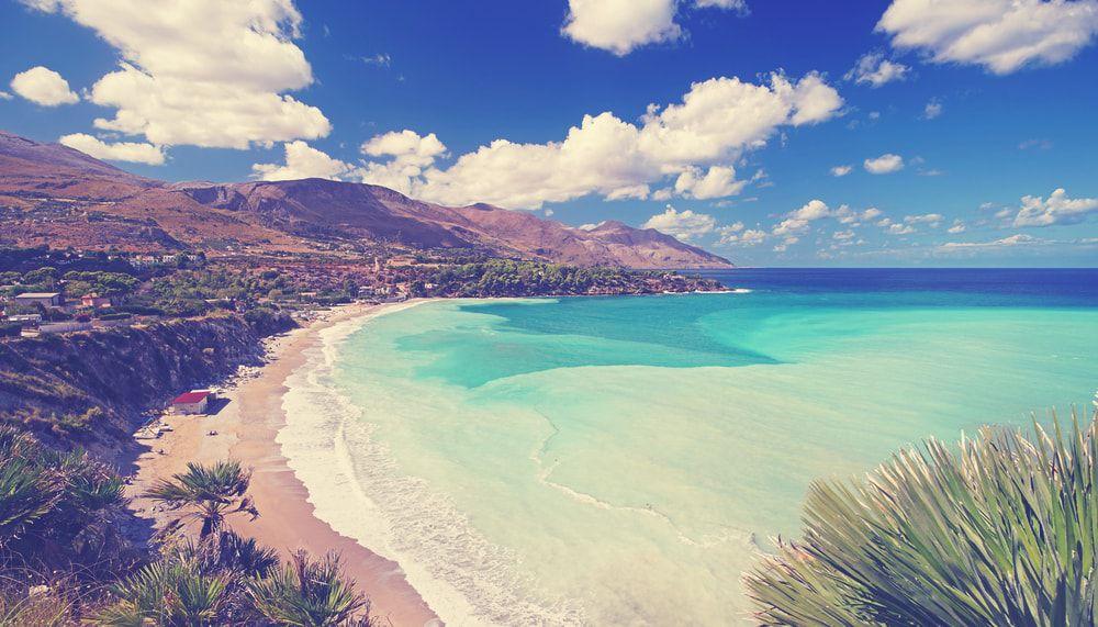 Der Strand Castellamare del Golfo