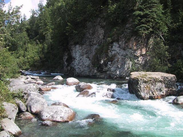 Bergfluss in Alaska