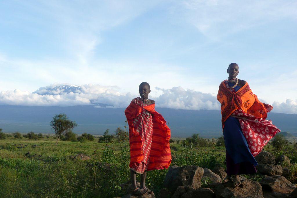 Massai im Amboseli-Nationalpark
