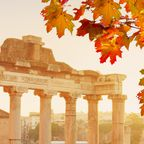 Blick auf das Forum Romanum im Herbst