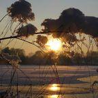 Abendsonne leckt am Schnee
