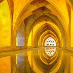 Alcázar von Sevilla, Spanien – Wassergärten von Dorne