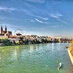 Unterwegs in Basel: Wenig Berge, viele Leihräder