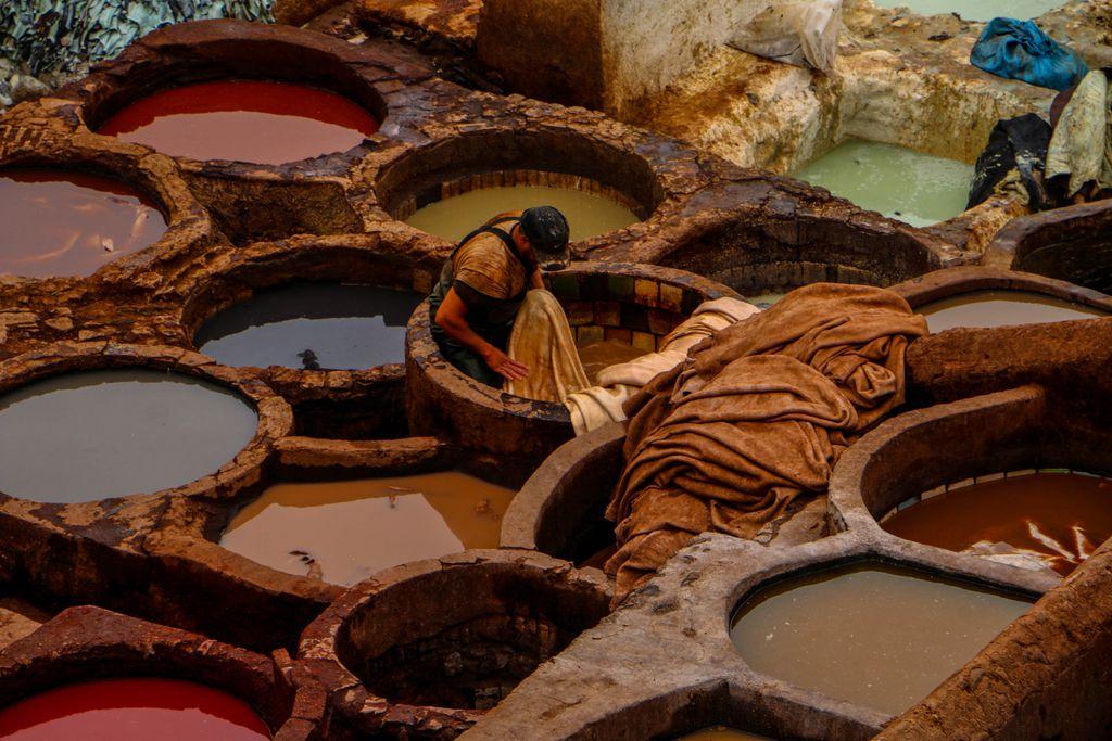 Gerberei in Fez