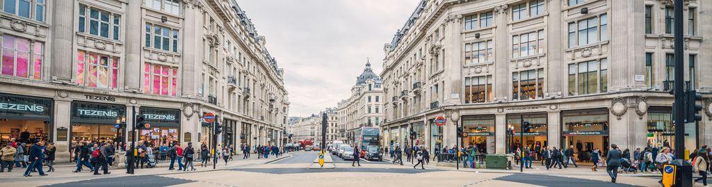 Die belebte Oxford Street