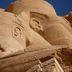 Detailaufnahme einer Statue in Abu Simbel