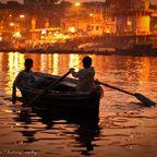 Ruderboot auf dem Ganges