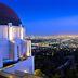 Blick vom Griffith Observatory auf das nächtliches Los Angeles