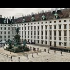 Wien, Hofburg, Ausblick aus den Kaiserappartements