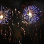 Feuerwerk in Blau