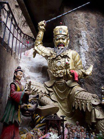 In einem Tempel - Xihua Park in Wenshan