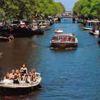 Boote auf der Prinsengracht