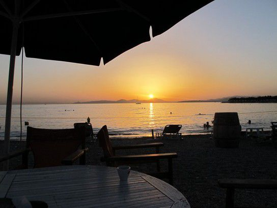 Sunset at the Beach of Athens