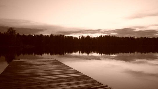 Sunset at Umea (Lake Nydalasjön)