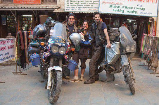 Argentinische Biker und ich