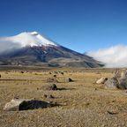 Schneebedeckter Cotopaxi Vulkan