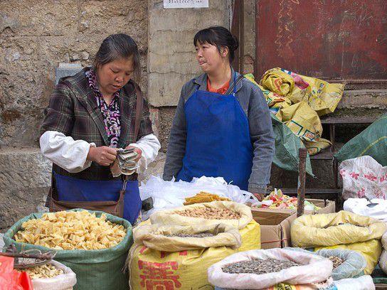 Marktstand in Xichou